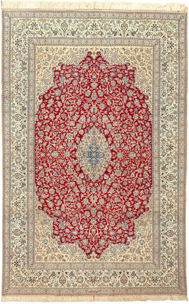 Fine Signed Persian Nain Rug at Essie Carpets, Mayfair London