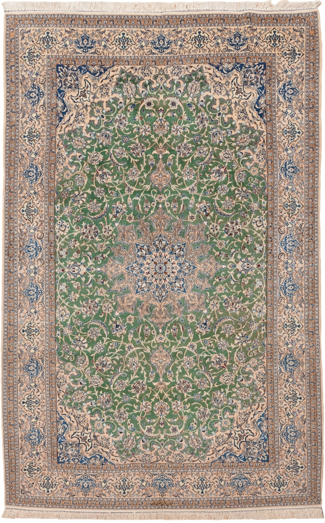 Fine Signed Persian Nain Carpet at Essie Carpets, Mayfair London