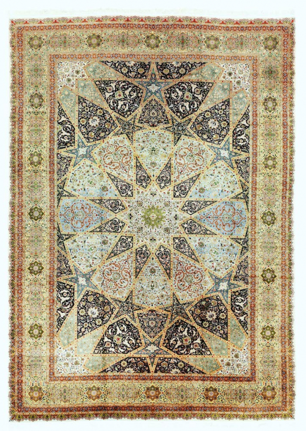 Persian Tabriz Extra Large Carpet at Essie Carpets, Mayfair London