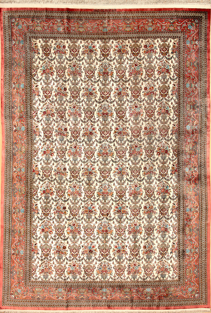 Qum Persian Silk Carpet