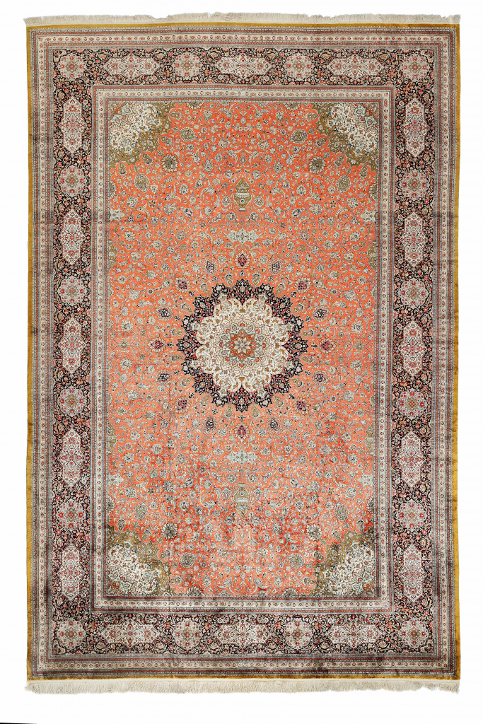 Extremely Fine PersianQum Extra Large Carpet at Essie Carpets, Mayfair London