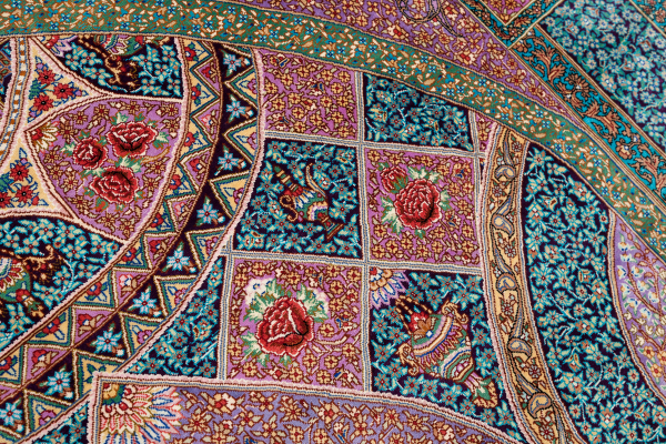 Persian Qum Silk Rug at Essie Carpets, Mayfair London