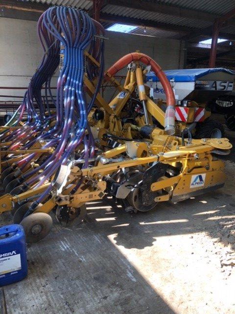 Alpego Rotodent DKS 4m Folding Power Harrow & Drill Combination Unit