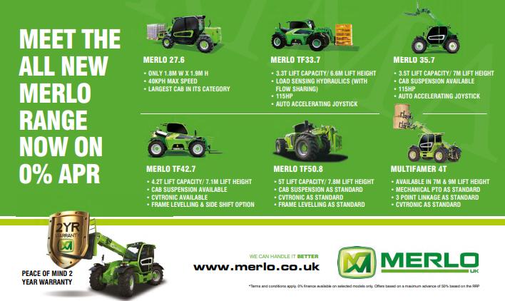Meet the all new Merlo range on 0% APR