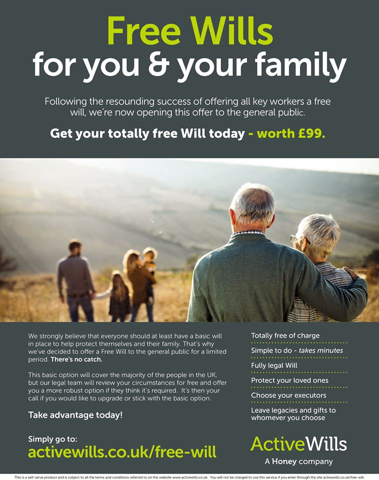 Free Basic Will @ Active Wills.