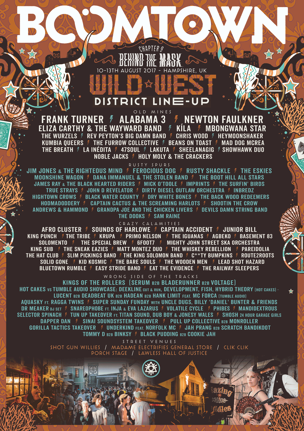 Boomtown 2017 Wild West Line Up