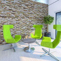 Our flexi chairs are perfect for a breakout area in your office.