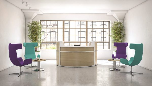 Examples of office furniture in one of our office designs.