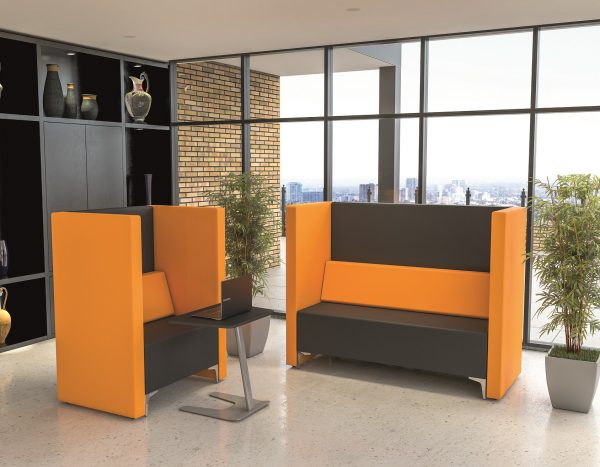 Black and Orange Office Space