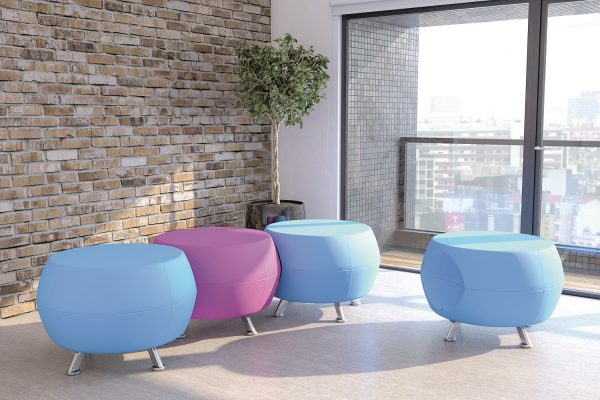 Blue and Purple Office Stools
