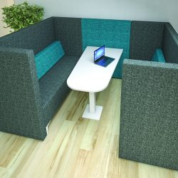 Our office booths and pods also serve as excellent breakout areas as they form a separation from the office without a permanent partition.