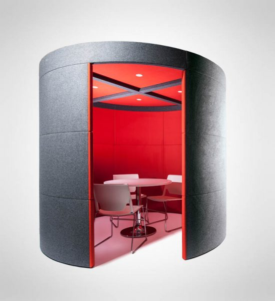 modern red office pod