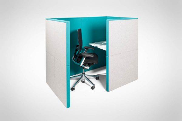 modern blue office pod