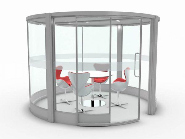 modern circular meeting pod