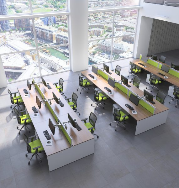 Ambus desks are perfect for call centres. Comfortable groupings of your call centre staff without uninspiring rows upon rows of tables and chairs.
