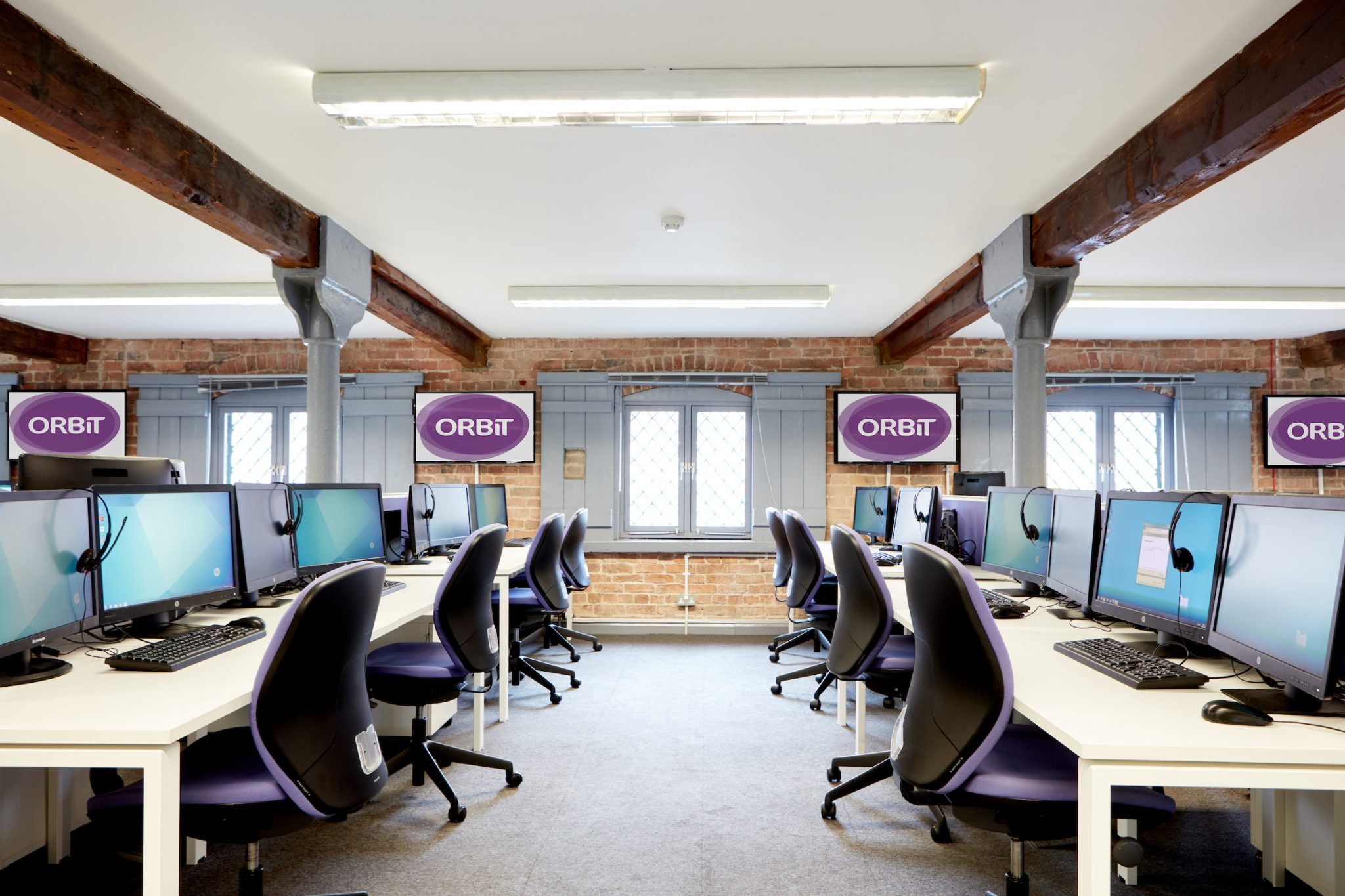 York office design, call centre example.