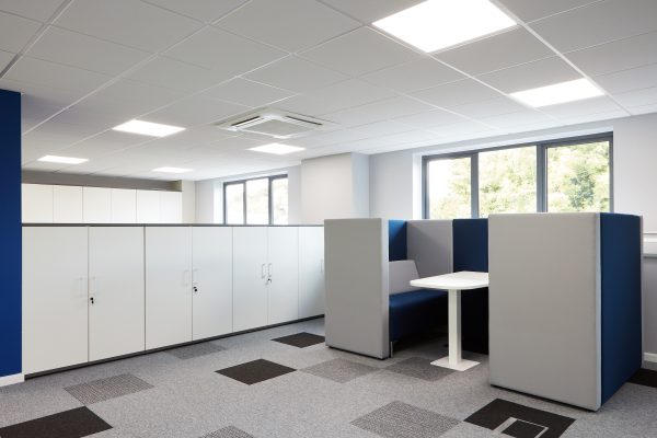 plymouth office design grey and blue