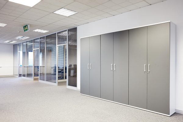 quay house office design grey cupboards