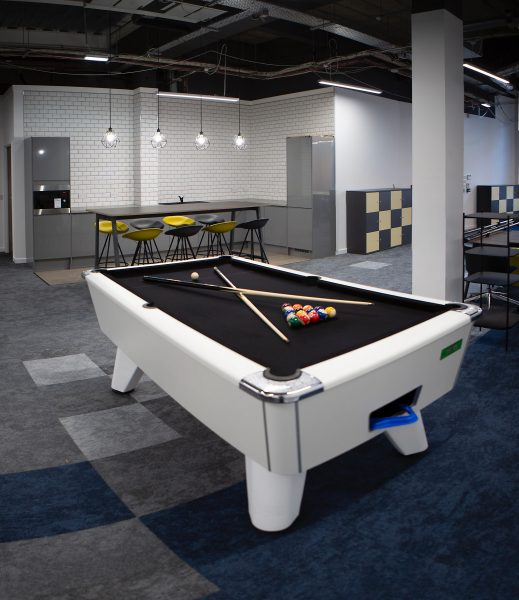Office Pool Table And Kitchen Table 2