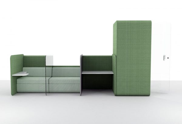 social distancing office furniture green