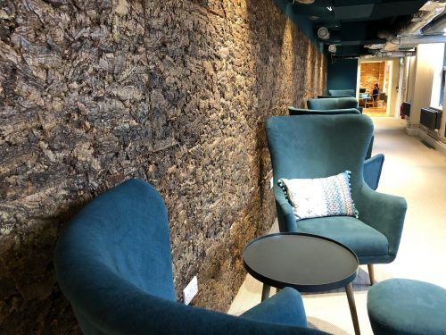 cork bark wall interior design