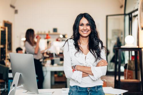 Start,Up,Of,Enterprise,,Women,Leader,The,New,Company,Self-confident