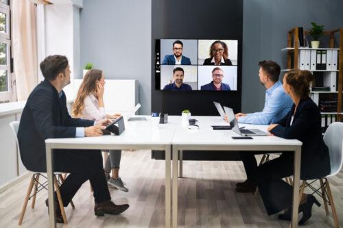 Online,Video,Conference,Social,Distancing,Webinar,Business,Meeting