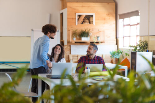 positive-office-workers-wellbeing