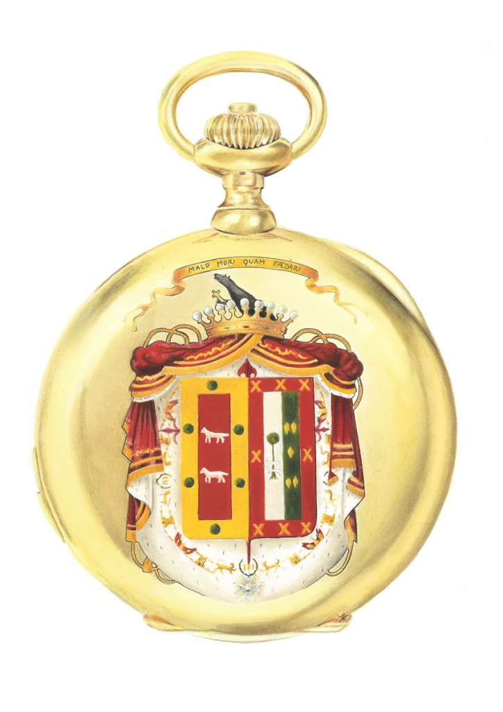 illustration of a vintage patek philippe pocket watch