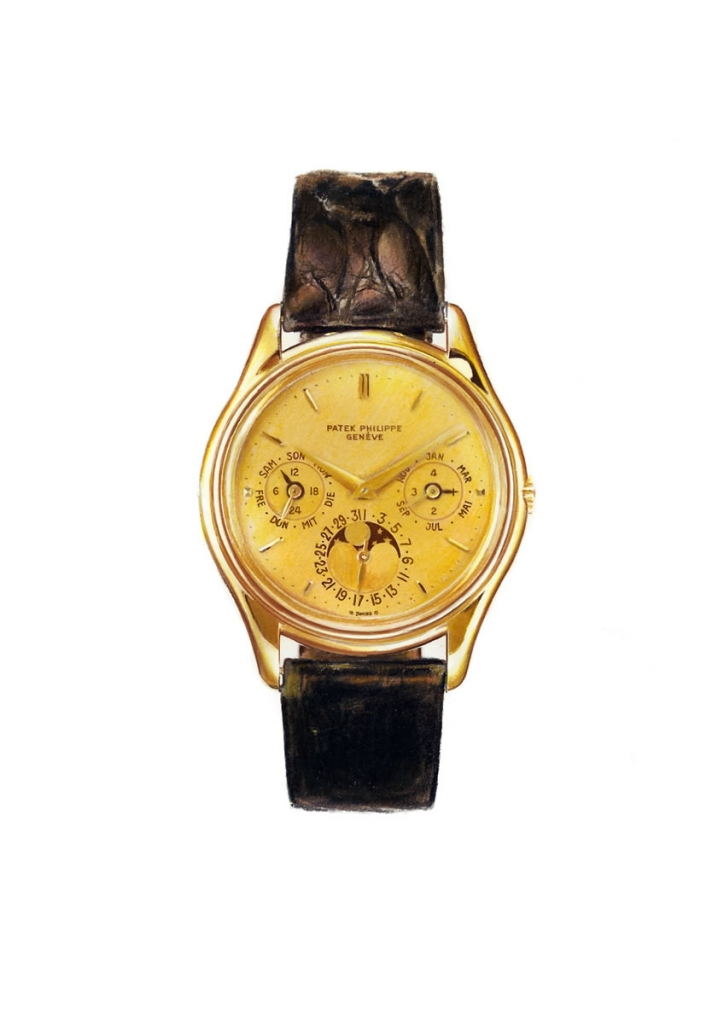 photorealistic painting of a wristwatch
