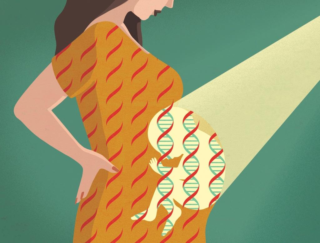 scientific editorial illustration