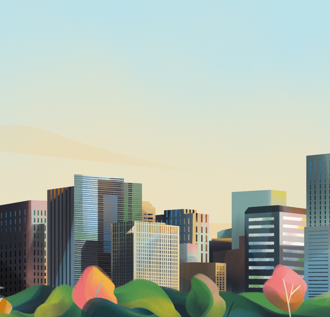 Jia-Yi-Liu-Folio-Illustration-Forbes-kJapan-Otomachi-Skyline-Landscape