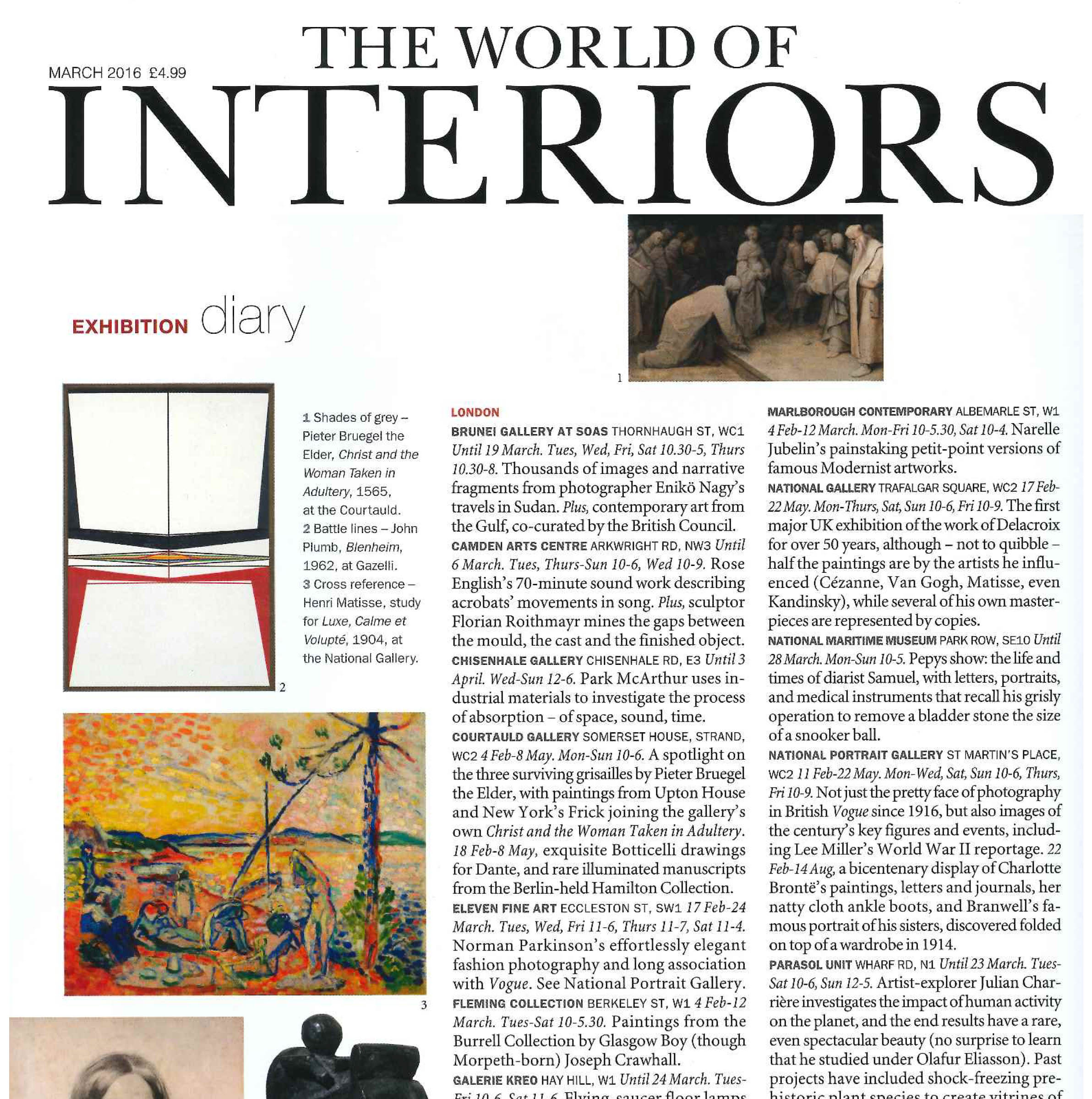 THIS IS TODAY | THE WORLD OF INTERIORS | FEBRUARY 2016