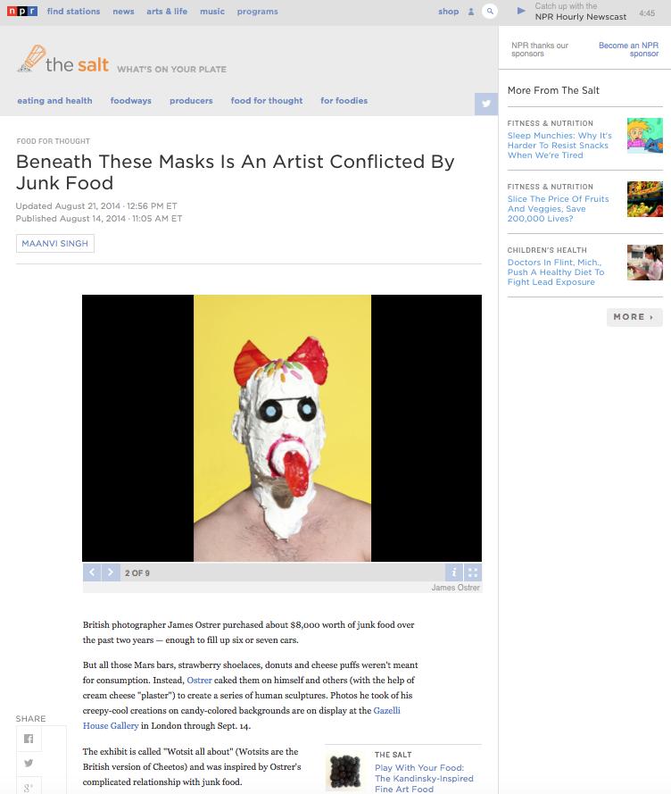 JAMES OSTRER | NPR | AUGUST 2014