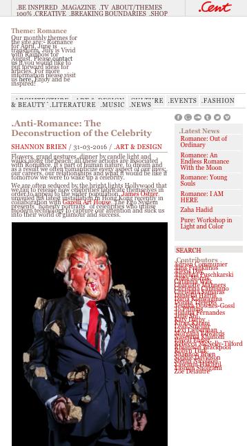 JAMES OSTRER | CENT MAGAZINE | MARCH 2016
