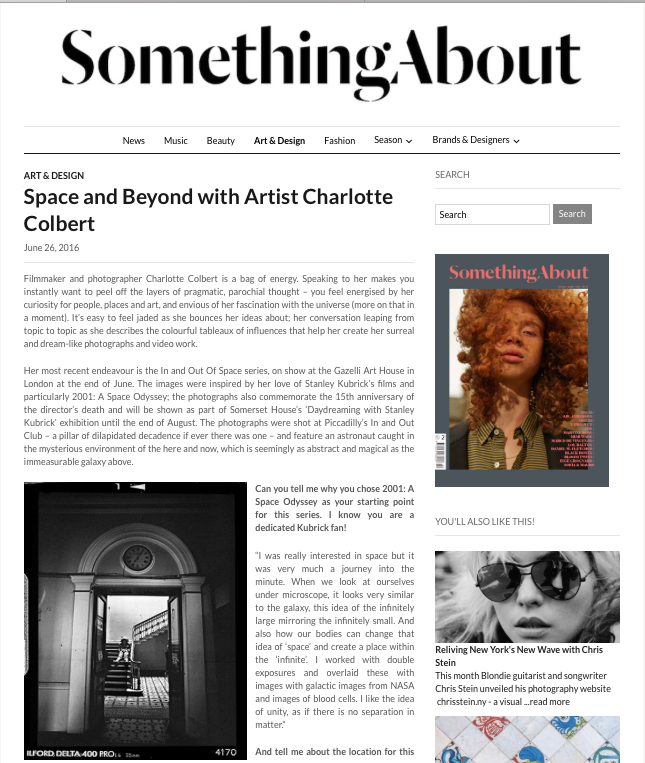 CHARLOTTE COLBERT | SOMETHING ABOUT MAGAZINE | JUNE 2016