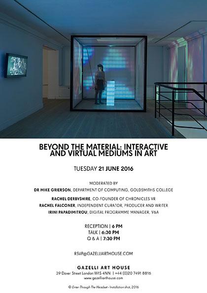 BEYOND THE MATERIAL | TALK | 21 JUNE 2016