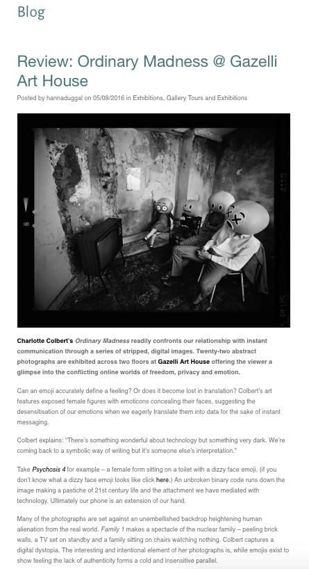 CHARLOTTE COLBERT | THE MANGO LAB | AUGUST 2016