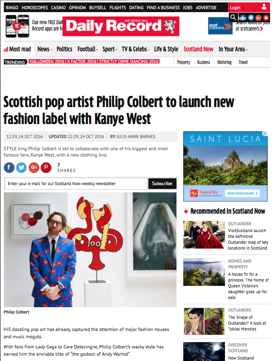 PHILIP COLBERT | DAILY RECORD | OCTOBER 2016
