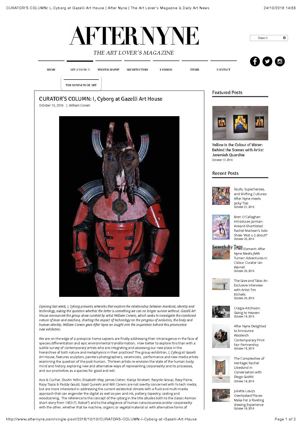 I, CYBORG | AFTER NYNE | OCTOBER 2016