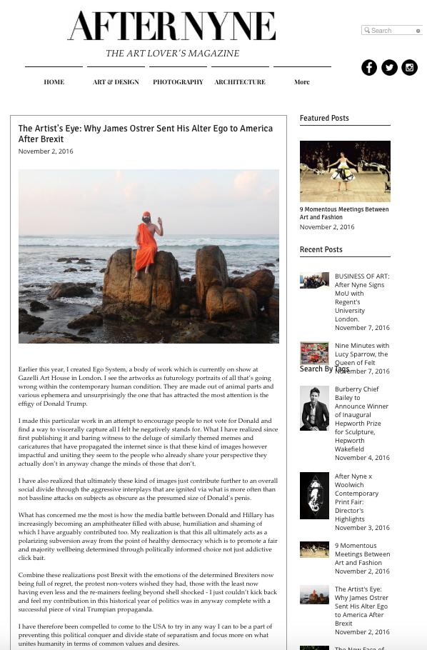 JAMES OSTRER | AFTER NYNE | NOVEMBER 2016