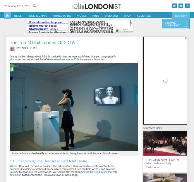 GAZELLI ART HOUSE   LONDONIST   DECEMBER 2016