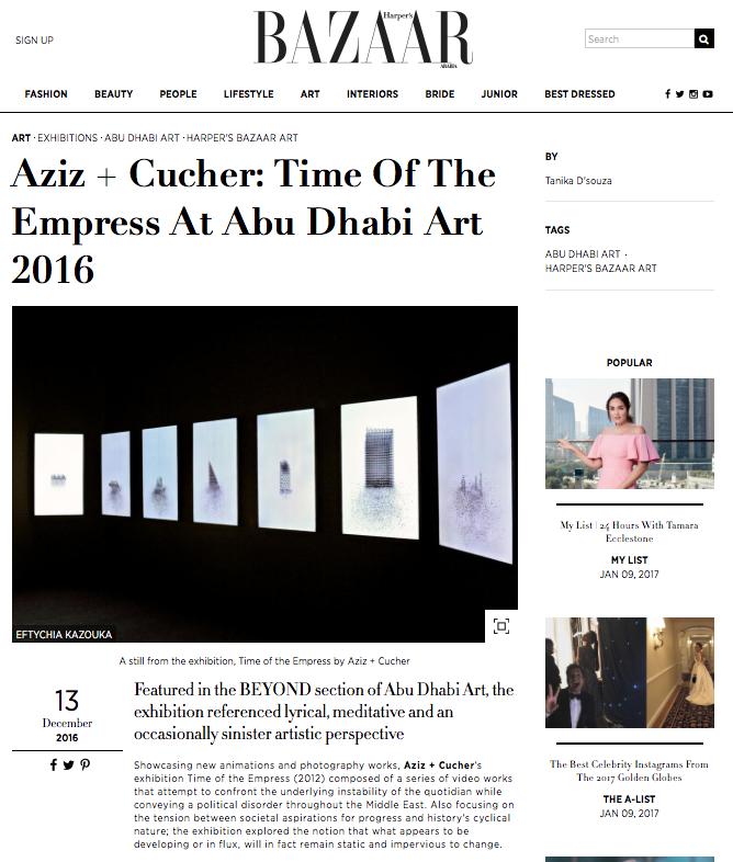 AZIZ + CUCHER   HARPER'S BAZAAR  DECEMBER 2016