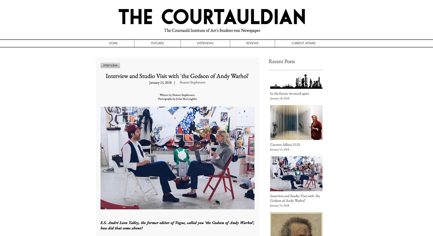 PHILIP COLBERT | THE COURTAULDIAN | JANUARY 2018