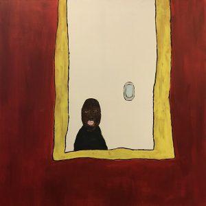 Markus Martinovitch, 'Markus with bleeding mouth' 2018, Acrylic on canvas, 100 x 100 cm