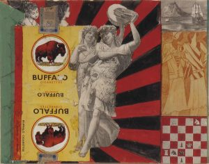 Pauline Boty, 'Untitled (Buffalo)' 1960/61, Collage and gouache on paper, 19.1 x 24.3 cm