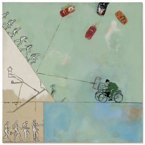 Derek Boshier, Man Versus Look, Versus Life, Versus Time, Versus Man About, 1962