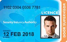 Door Supervisor Licence