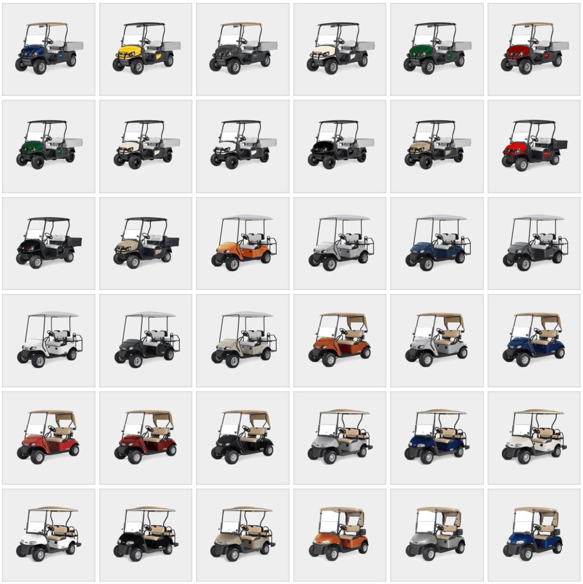 Range of vehicle colours 1