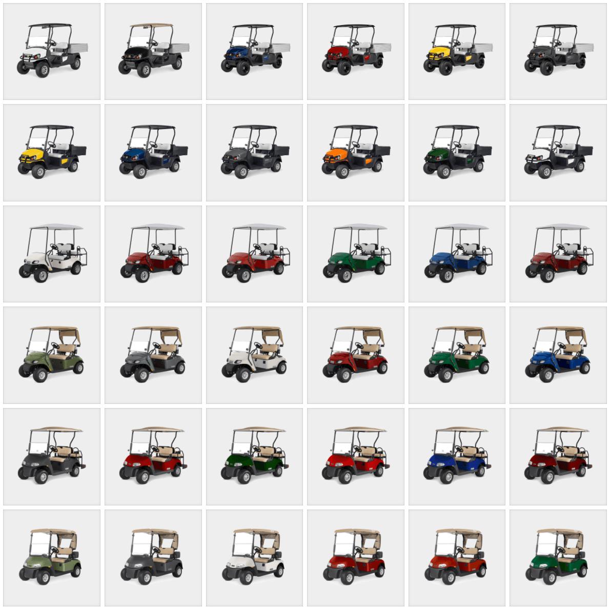 Range of vehicle colours 2